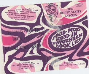 Cover of the Mod-Mod Read-In Paperback Book List, 1970