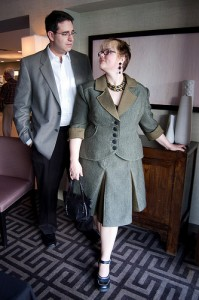 Sara Ryan and Steve Lieber, photo by Lori Matsumoto, Sara's suit by Miriam Chin