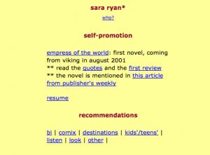 Wayback Machine for my website circa 2000
