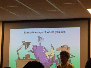 "slide ""Take advantage of where you are"""