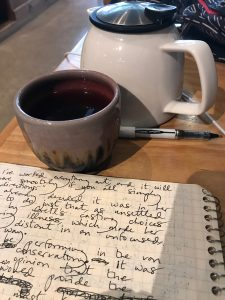 tea shop writing tableau